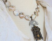 Joan of Arc, Magnificent Shrine, Blister pearl necklace