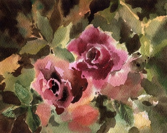 Original art (NO PRINT!) Roses