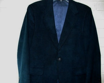 Size 39 Short teal doeskin sport jacket
