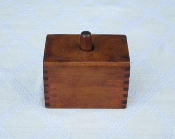 Butter Mold Wooden Rectangle