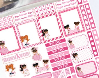 Fight Like a Girl planner stickers