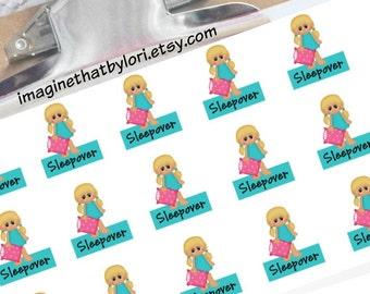 Sleepover planner stickers (blonde)