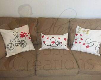 Personalized Love Bike Pillows