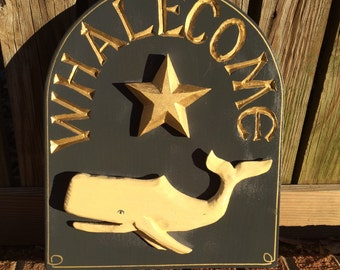 NEW WHALECOME PLAQUE