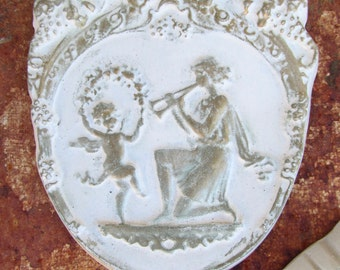 Set of 4 Plaques - Nymphs and Cherubs Dance and Celebrate!  One Owner!