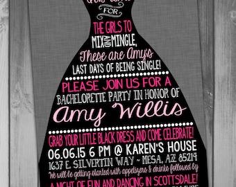 Bachelorette Invitation Bachelorette Party Invitation Little Black Dress Printable Bachelorette Wedding Invitation Bridal Shower Wedding