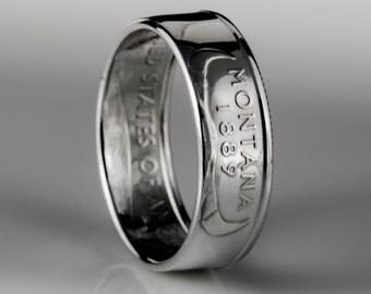 Montana Quarter - Coin Ring - SILVER (.900)