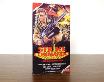 1987 Strike Commando VHS Movie Out of Print