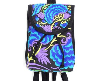 Tribal Backpack With Embroidered Fabric Handmade Thailand (BG7755BP-8C6)