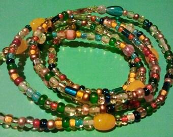 Golden Sun Waist Beads (1 Pair) Sizes 37 - 50