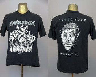 90s Candlebox All Over Print Front and Back 1995 Promo Tour T Shirt