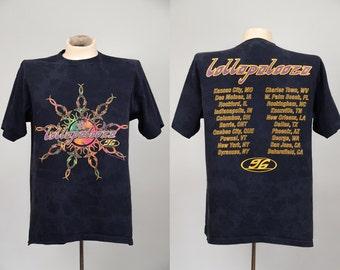 1996 Lollapalooza Metallica, Soundgarden, Wu-Tang Clan, Violent Femmes, Screaming Trees, Rancid, Rage Against the Machine T Shirt