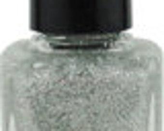 Nail Polish Irridescent SIlver Glitter Vegan nails 3 free indie nail polish