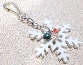 Snowflake, Pearl & Mini Crystals Silver Tone Add a Charm,