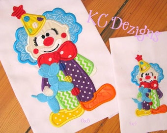 Cute Clown 01 Machine Applique Embroidery Design - 4x4, 5x7 & 6x8