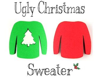 """2"""" Christmas Sweater Die Cuts set of 25"""