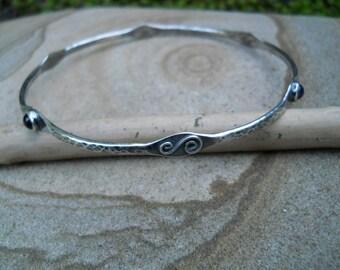 oxidised ethnicartisan silver bangles