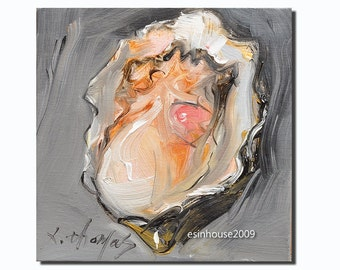 Delicious sea animals shell OYSTER Original Paintings Minimalist style