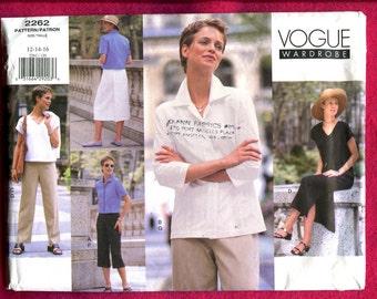 Vogue 2262 Resort Wear Wardrobe Pattern for Women Sizes 12 14 16 UNCUT