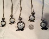 Lot 5 pocketwatch pendants, vintage steampunk style, Eiffel Tower mix