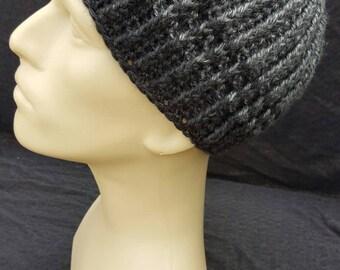 Reversible crochet beanie