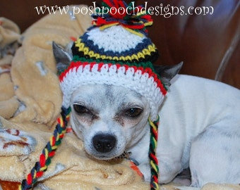 Primary Colors Ear Flap Dog Hat Instant Download Crochet Pattern