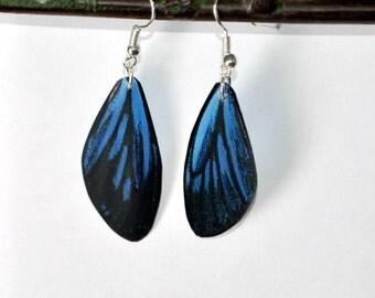 Butterfly Earrings Handmade Jewelry Stainless Steel Fish Hook Earrings Insects Butterfly wing Earrings Dangled Earrings by Doug Walpus