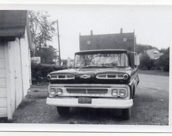 Vintage Photo 1961 Chevy GMC Chevrolet Pickup Truck Classic Car Photograph Antique Auto Memorabilia Automobile Mid Century Modern Americana