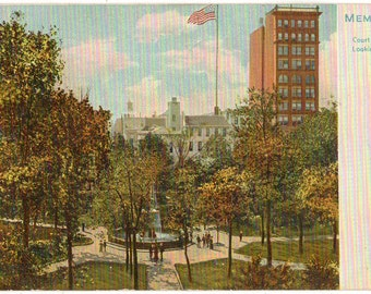 Vintage Postcard, Memphis, Tennessee, Court Square Looking South, Tuck Postcard, 1905