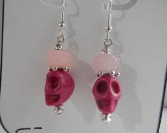 Pink Sugar skull earrings