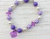 little girl chunky bead necklace purple lavender bubble gum chunky baby necklace big girl necklace big bead necklace
