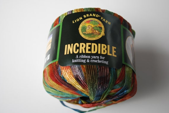 1 skein lion brand yarn incredible copper penny ribbon yarn - Incredible uses for copper pennies ...