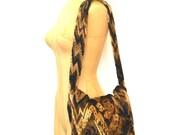 Vintage Chenille Tapestry Bag - Soft Slouchy Fabric Shoulder Bag