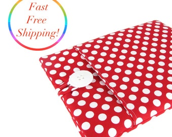 iPad Air 2 Case, iPad Air 2 Sleeve, iPad Case, iPad Sleeve, iPad 2 Case, iPad 2 Sleeve, iPad Air Case, iPad Air Sleeve - Red Polka Dots.