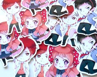 Gekkan Shoujo Nozaki-kun sticker set