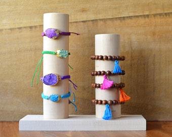 Wood Bracelet Stand Holder Display