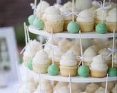 Cupcake Stand, Wedding Cupcake Stand, Cake Stand, Wood Cupcake Stand, Round Cupcake Stand, 5 Tier Cupcake Stand, Your Divine Affair