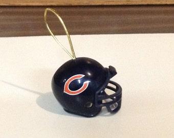 Chicago Bears Football Helmet Christmas Ornament