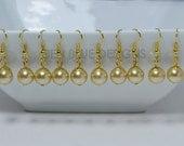 Pearl Dangle Earrings, Simple Pearl Earrings, Champagne Earrings, Pearl Earrings, Dangle Earrings, Simple Pearl Earrings, Golden Earrings