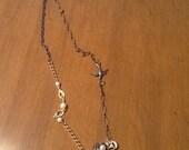 Romantic, Mori Girl, BoHo, Vintage looking birdnest and bird necklace