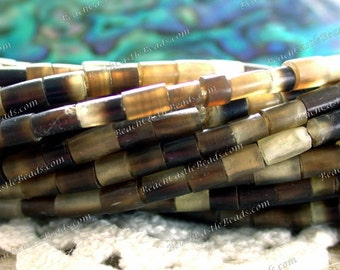 Horn Beads, 1 Strand ~ 3 to 5mm Natural Undyed Horn Heishi Beads, Horn Tube Beads NAT-221