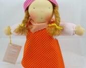 Lilly cuddle doll, waldorf inspired doll, steiner doll, 12 inch, doll boy, soft doll