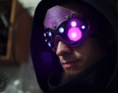Custom made to order Hivemind v.1 Cyberpunk scifi LED dystopian light up goggles - Choose colors.