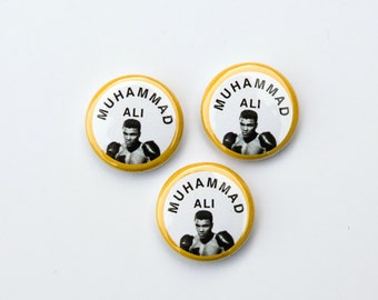"""Muhammad Ali 1"""" Pins"""