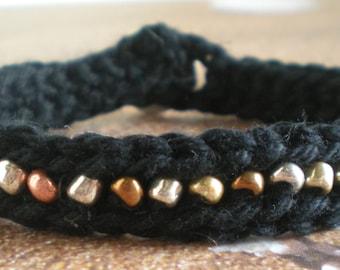 Crochet & Bead Bracelet