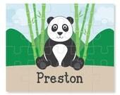 Panda Puzzle - Personalized Puzzle for Kids - Jigsaw Puzzle - Children Puzzles - Personalized Name Puzzle - 8 x 10 puzzle, 20 pieces