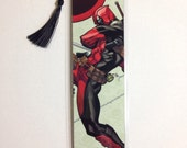 Upcycled Deadpool Comic Book Bookmark