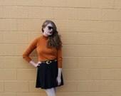 Burnt Orange Vintage Knit Turtleneck