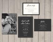 Wedding Invitation, RSVP, Details Card (Printable) by Vintage Sweet