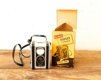 Vintage Kodak Duaflex Camera with Kodet Lens in Original Box Late 1940s-50s